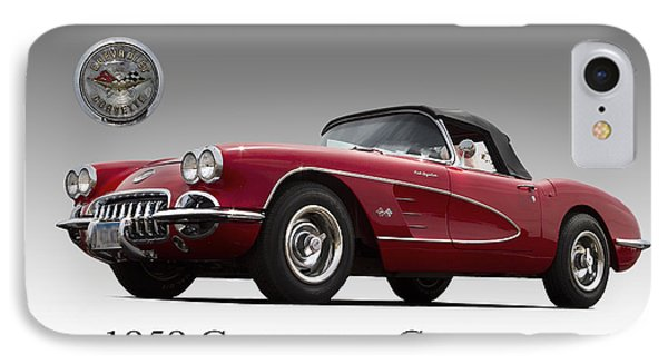 IPhone Case featuring the photograph 1959 Corvette by John Hix