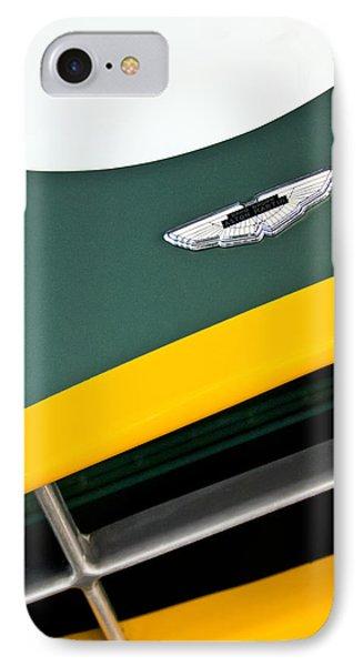 1993 Aston Martin Dbr2 Recreation Hood Emblem Phone Case by Jill Reger