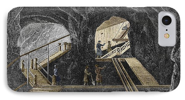 19th-century Mining Phone Case by Sheila Terry