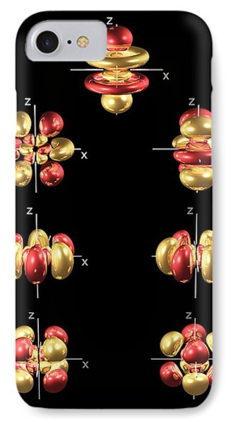 5f Electron Orbitals, General Set IPhone Case by Dr Mark J. Winter