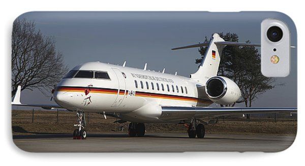 A Bombardier Global 5000 Vip Jet Phone Case by Timm Ziegenthaler