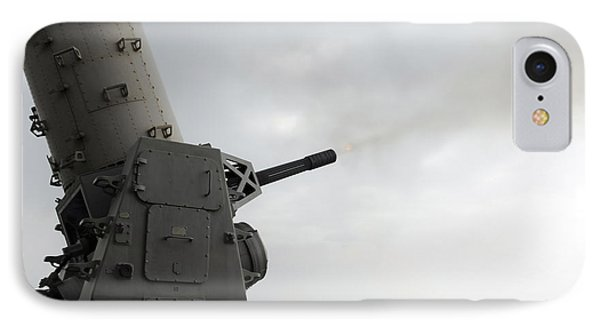 A Close-in Weapons System Is Fired Phone Case by Stocktrek Images