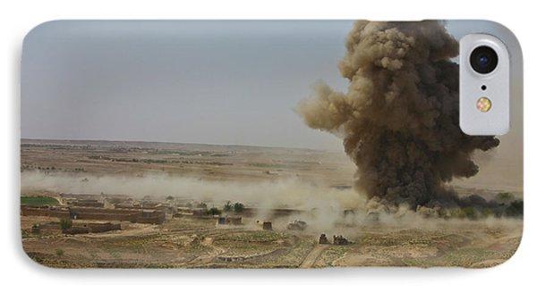 A Cloud Of Dust And Debris Rises Phone Case by Stocktrek Images