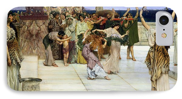 A Dedication To Bacchus Phone Case by Sir Lawrence Alma-Tadema