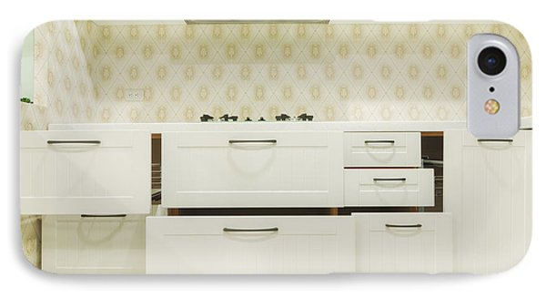 A Domestic Kitchen. Drawers Partly IPhone Case
