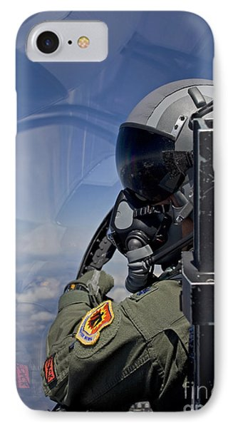 A F-15 Pilot  Looks Over At His Wingman Phone Case by HIGH-G Productions