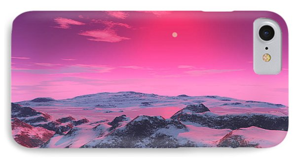 A Hypothetical Planet Orbiting A Red Phone Case by Ron Miller