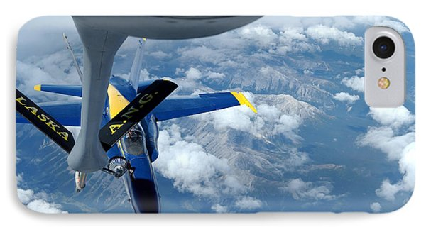 A Kc-135 Stratotanker Refuels An Fa-18 Phone Case by Stocktrek Images