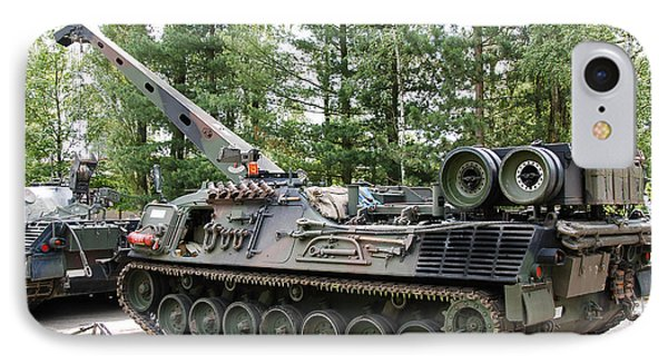 A Leopard 1a5 Mbt Of The Belgian Army Phone Case by Luc De Jaeger