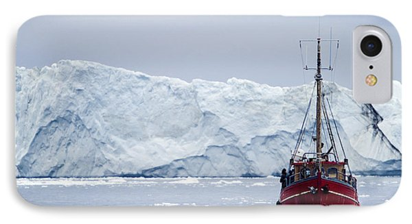 A Midnight Cruise Around The Ilulissat Phone Case by Axiom Photographic