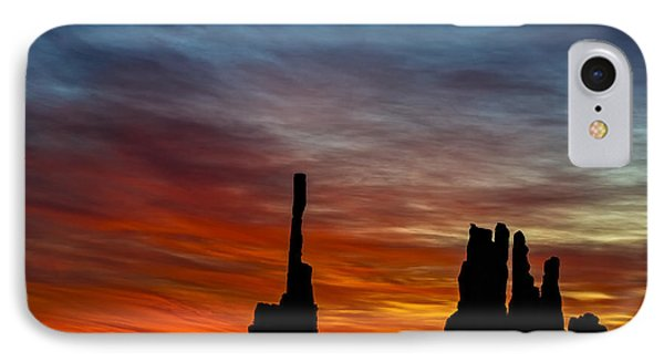 A New Day At The Totem Poles IPhone Case by Susan Candelario