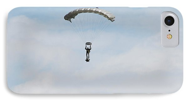 A Paratrooper Of The Belgian Army Phone Case by Luc De Jaeger