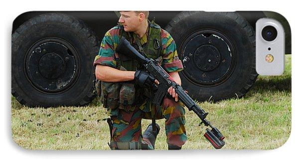 A Soldier Of An Infantry Unit Phone Case by Luc De Jaeger