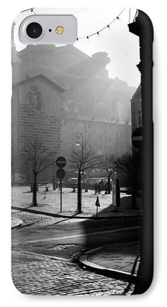 A Square In Old Brussels IPhone Case by Peter Mooyman