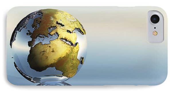 A World Globe Showing The Continents Phone Case by Corey Ford