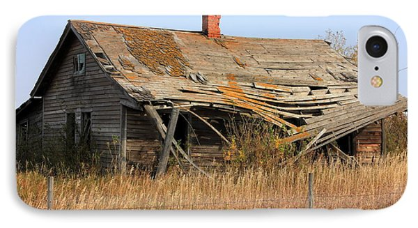 Abandoned Alberta Prairie Home IPhone Case by Jim Sauchyn