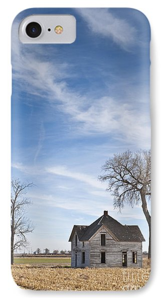 Abandoned House In Field Phone Case by Dave & Les Jacobs