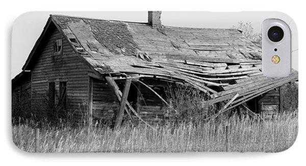 Abandoned House In Monochrome IPhone Case by Jim Sauchyn