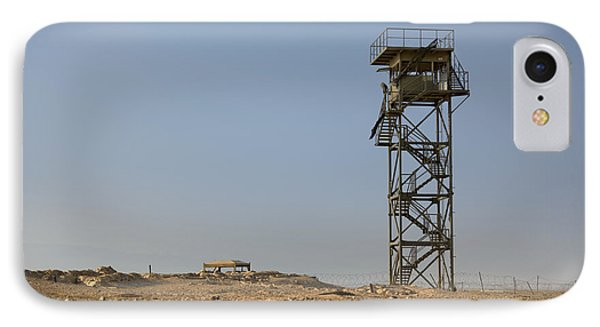 Abandoned Watchtower In The Desert Phone Case by Noam Armonn