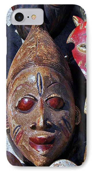 IPhone Case featuring the photograph African Mask by Werner Lehmann