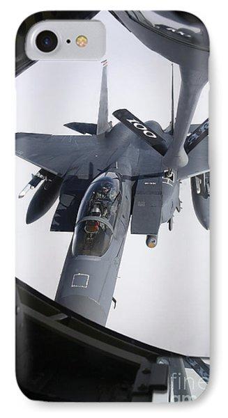 Air Refueling A F-15e Strike Eagle Phone Case by Daniel Karlsson