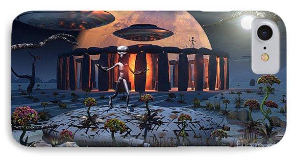 Alien Explorers On An Alien World Phone Case by Mark Stevenson