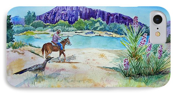Texas - Along The Rio-grande IPhone Case by Christine Lathrop