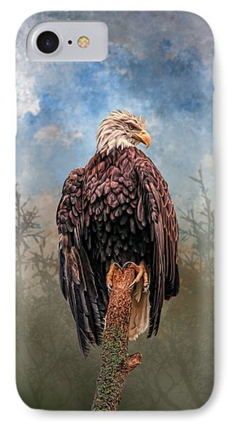 IPhone Case featuring the digital art American Bald Eagle by Mary Almond