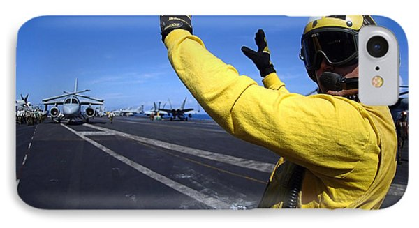 An Aviation Boatswains Mate Directs Phone Case by Stocktrek Images