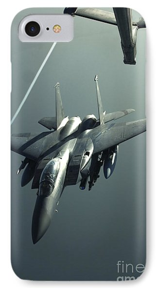 An F-15e Strike Eagle Flies Over Iraq Phone Case by Stocktrek Images
