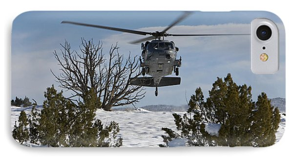 An Hh-60g Pave Hawk Flys Low IPhone Case