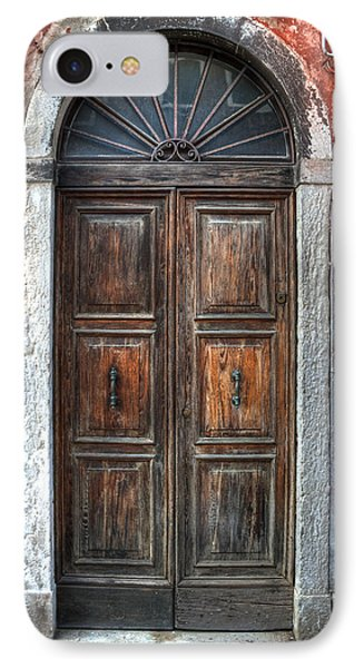 an old wooden door in Italy Phone Case by Joana Kruse