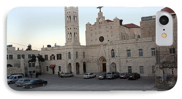 Annunciation Latin Church In Beit Jala Phone Case by Munir Alawi