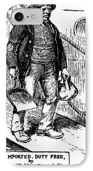 Anti-immigrant Cartoon IPhone Case by Granger