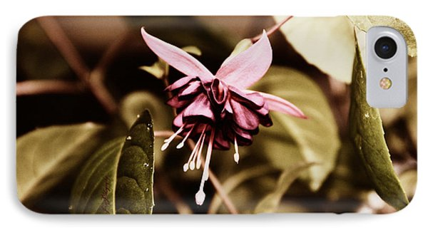 Antiqued Fuchsia IPhone Case by Jeanette C Landstrom