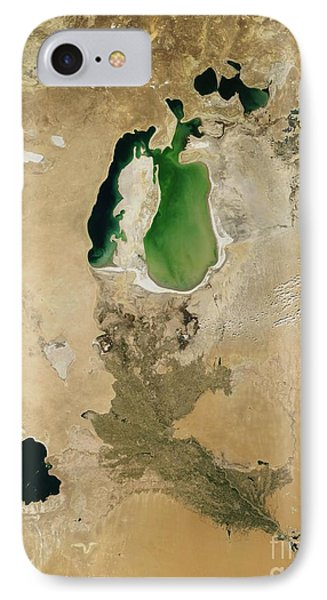 Aral Sea Phone Case by NASA / Science Source