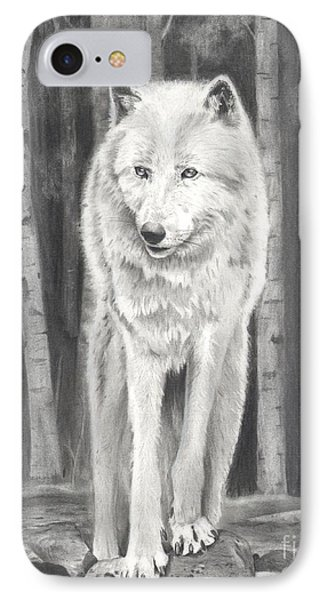 Arctic Wolf Phone Case by Christian Conner