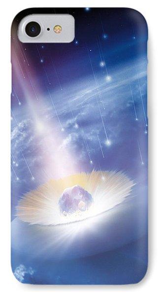 Asteroid Impacting The Earth, Artwork Phone Case by Detlev Van Ravenswaay