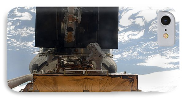 Astronauts Working On The Hubble Space Phone Case by Stocktrek Images