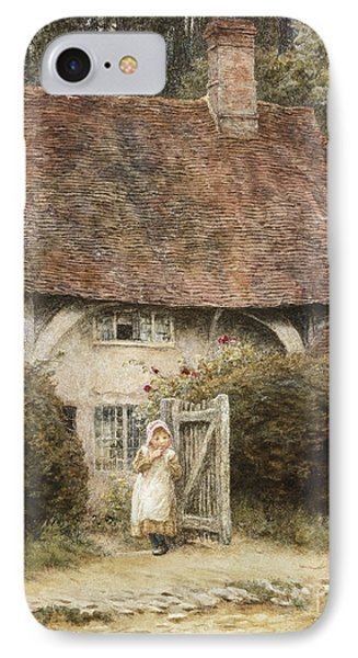 At The Cottage Gate Phone Case by Helen Allingham