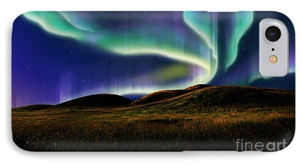 Aurora On Field IPhone Case by Atiketta Sangasaeng