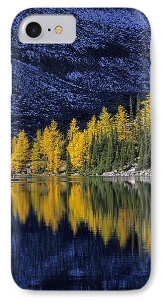 Autumn, Alpine Larch Trees, Lake Agnes Phone Case by John Sylvester