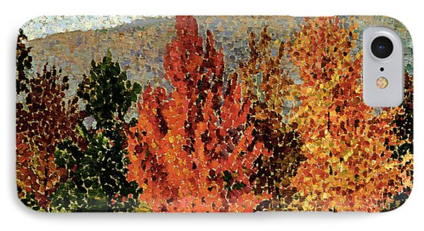 Autumn Landscape IPhone 7 Case by Henri-Edmond Cross