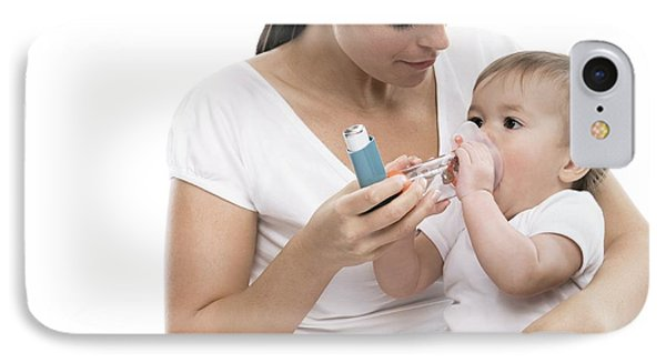 Baby Using An Asthma Spacer Phone Case by