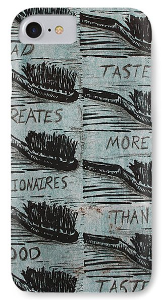 IPhone Case featuring the mixed media Bad Taste by William Cauthern