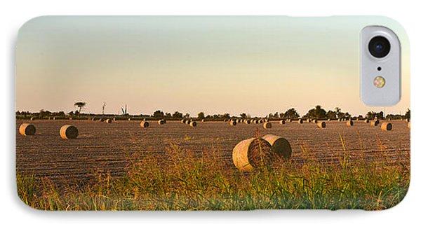 Bales In Peanut Field 2 Phone Case by Douglas Barnett