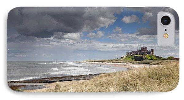 Bamburgh Castle Northumberland, England Phone Case by John Short
