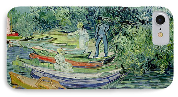 Bank Of The Oise At Auvers IPhone Case by Vincent Van Gogh