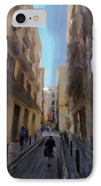 Barcelona Street Scene Phone Case by Sven Brogren