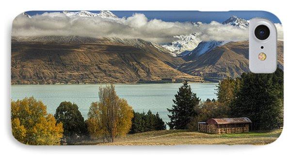 Barn Near Lake Pukaki And Ben Ohau IPhone Case by Colin Monteath